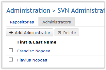 SVN edit administrators
