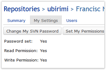 SVN user settings